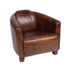 Rocket Leather Tub Chair Cigar | Occasional Chairs | Seating | Seating | Leather Furniture