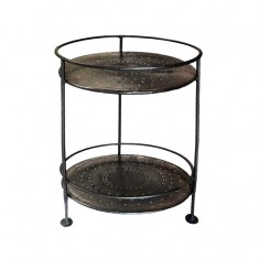 Two Tier Iron Table | Bedside Tables | Ocassional Tables | Tables | Tables | Bedroom