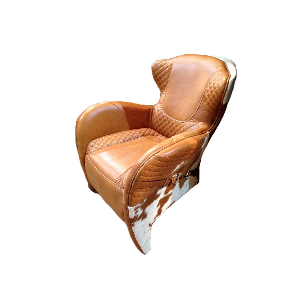 Rodeo Columbia Brown Leather Amp Hide Chair Occasional