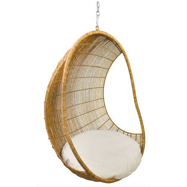 Hanging Pod Chair Open Sides Seating Outdoor Furniture
