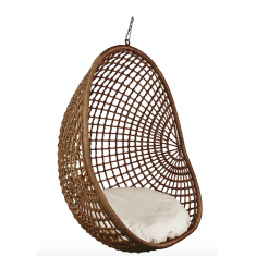 Hanging Pod Chair  Dark Natural Check | Seating | Outdoor Furniture | Outdoor Furniture