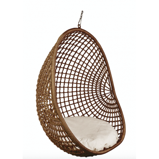 Hanging Pod Chair Dark Natural Check Seating Outdoor Furniture Outdoor Furniture Ido Interior Design Online