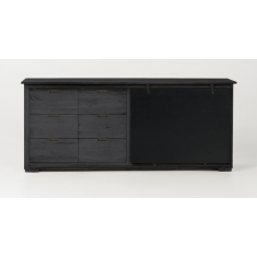 Matteo Black Oak Sideboard | Sideboards & Consoles | Sideboards and Consoles | Sideboards and Consoles | Sideboards and Consoles