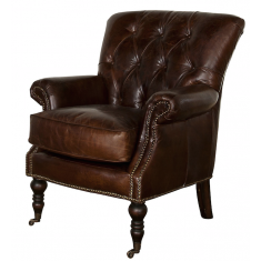 Harrington Leather Chair Brown  | Occasional Chairs | Seating | Seating | Leather Furniture