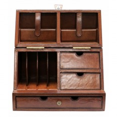 Leather Stationary Box | Home Décor & Gifts | Leather Furniture