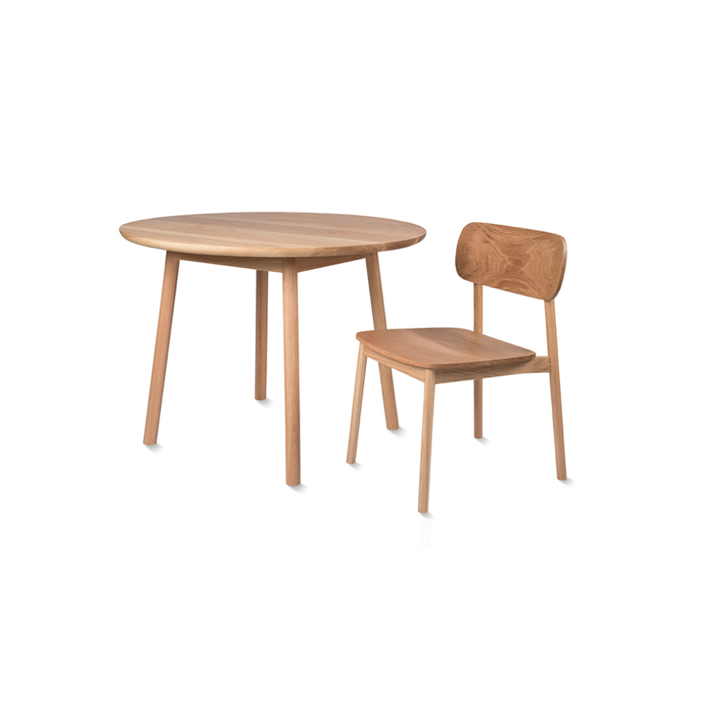 Radial Round Dining Table