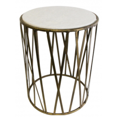 Criss Cross Marble Side Table | Tables | Bedside Tables | Ocassional Tables | Tables | Home