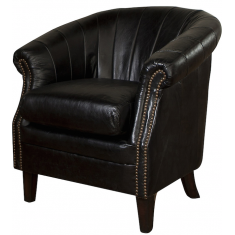 Roosevelt Leather Tub Chair Black | Seating | Occasional Chairs | Seating | Seating | Leather Furniture
