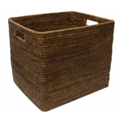 Coco Rattan Basket Square   Home Décor & Gifts