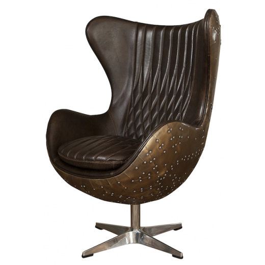 Fighter Egg Chair | Seating | Leather Furniture