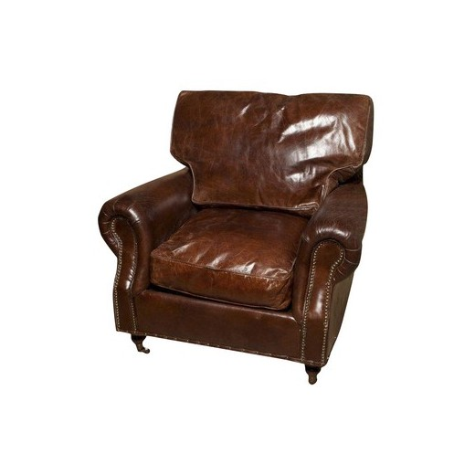 Kent Rolled Arm Chair | Occasional Chairs | Seating | Leather Furniture