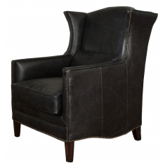 Victor Wing Chair Ebony | Seating | Occasional Chairs | Seating | Leather Furniture