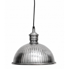 Ribbed Pewter Hanging Lamp | Pendants