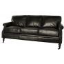 Lancaster 3 Seater Sofa Black Leather
