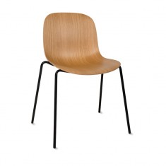 Curve Dining Chair Oak/Black PAIR | Dining Chairs | Seating | Seating