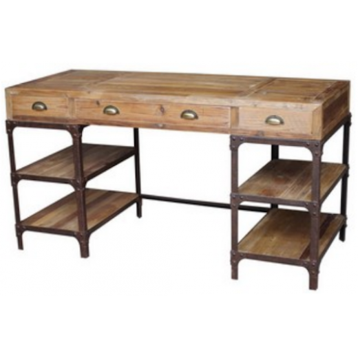 Industrial Reclaimed Timber Desk | Chests and Desks | Chests and Desks | Desks