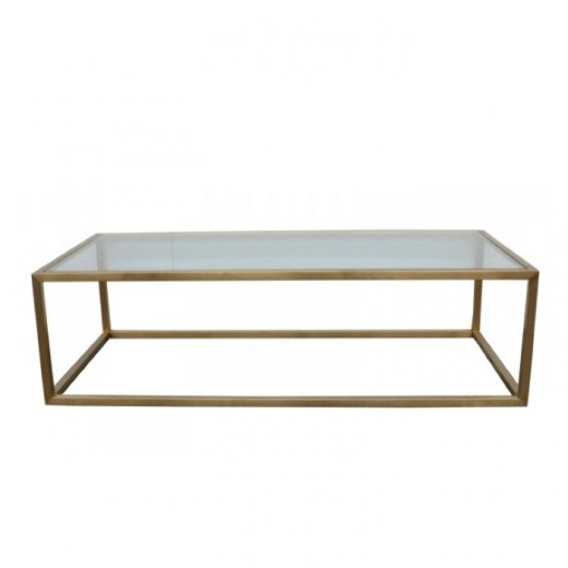 Bogart Rectangular Brass Coffee Table  | Tables | Coffee Tables | Tables