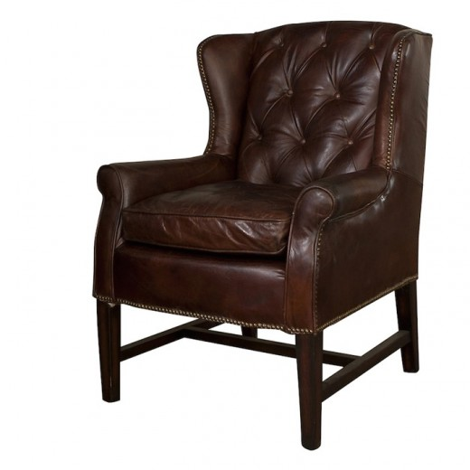 Clement Leather Arm Chair | Occasional Chairs | Seating | Leather Furniture