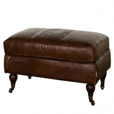 Springfield Leather Ottoman | Ottomans and Chaises | Seating | Leather Furniture