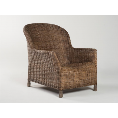 Gable Rattan Lounge Chair Pepper | Occasional Chairs | Seating