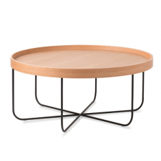 Segment Coffee Table Oak & Black | Coffee Tables