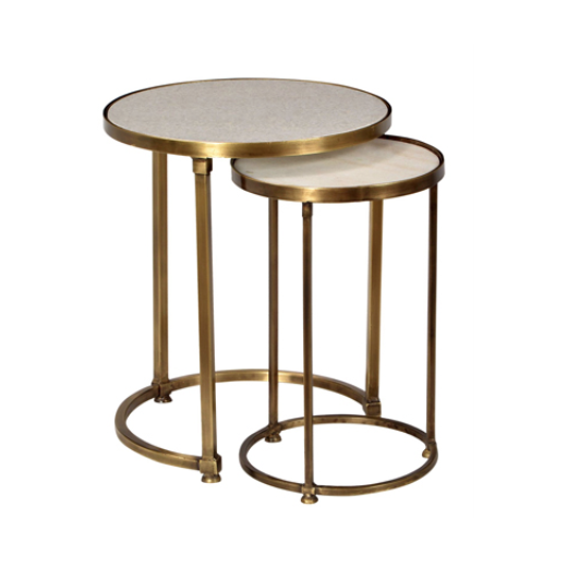 Round Marble Nesting Tables | Ocassional Tables | Tables | Tables | Home