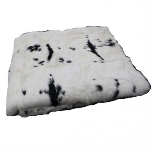 Rabbit Throw Mottled Black & White | Cushions & Throws | Accessories