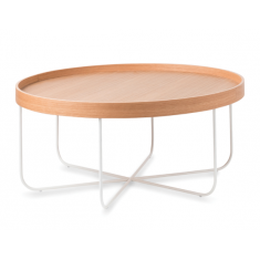 Segment Coffee Table Oak and White  | Coffee Tables | Tables | Tables | Tables