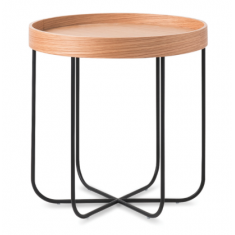 Segment Side Table Oak & Black  | Ocassional Tables | Tables | Tables