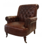 Conrad Brown Leather Library Chair