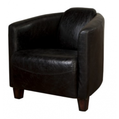 Rocket Leather Tub Chair Black | Occasional Chairs | Seating | Leather Furniture