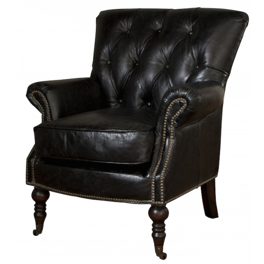 Harrington Leather Chair Black  | Leather Furniture | Occasional Chairs | Seating | Seating