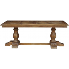 Parquet Top Pine Dining Table  | Dining Tables | Tables | Tables | Tables