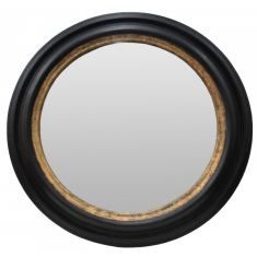 Caliope Round Mirror Black & Gold | Mirrors