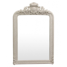 Trelise White Carved Mirror | Mirrors