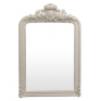 Trelise White Carved Mirror