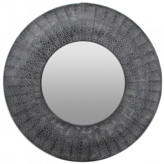 Marrakesh Round Mirror Black | Mirrors