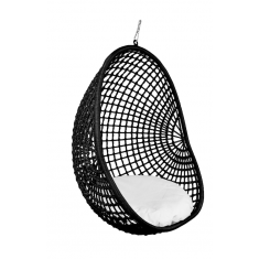Hanging Pod Chair Black Check  | Outdoor Furniture