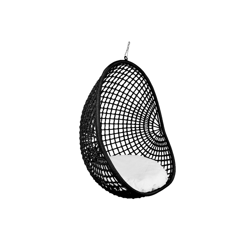Hanging Pod Chair Black Check