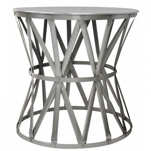 Drum Table Nickel Large | Ocassional Tables | Tables | Tables