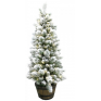 Christmas Snow Tree Potted With Lights