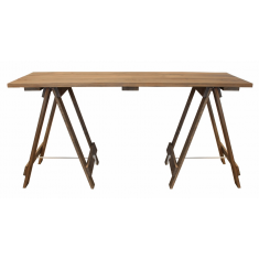 Natural Wood Trestle Console/Desk | Desks | Sideboards & Consoles | Chests and Desks | Sideboards and Consoles | Chests and Desks | Sideboards and Consoles | Chests and Desks | Sideboards and Consoles