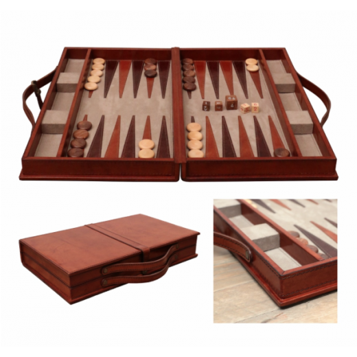 Leather Backgammon Set | Leather Furniture | Home Décor & Gifts