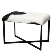 Anouk Goat Skin Stool Black and White | Ottomans and Chaises | Stools | Seating