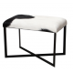 Anouk Goat Skin Stool Black and White
