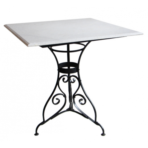 Parisian Marble & Iron Breakfast Table | Dining Tables | Tables | Tables