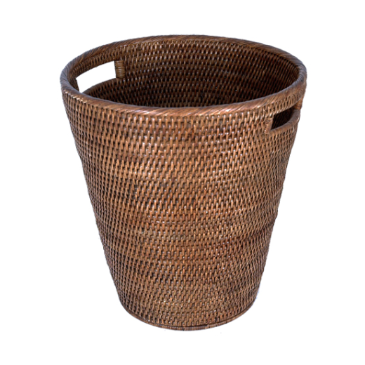 Coco Rattan Waste Paper Basket  | Home Décor & Gifts