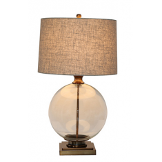 Angelo  Antique brass and glass lamp | Table Lamps