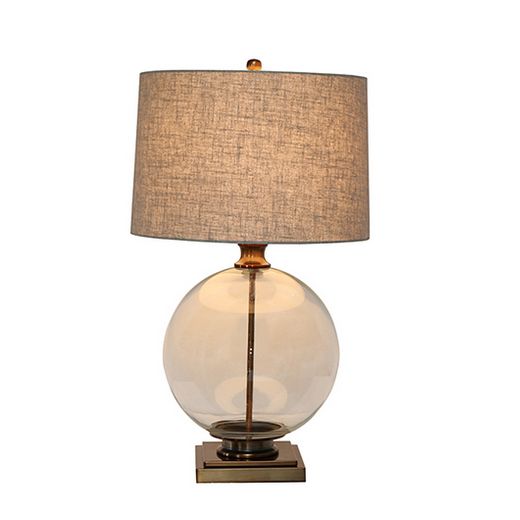 Angelo Antique Brass And Glass Lamp