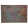 Vintage World Map With Lights
